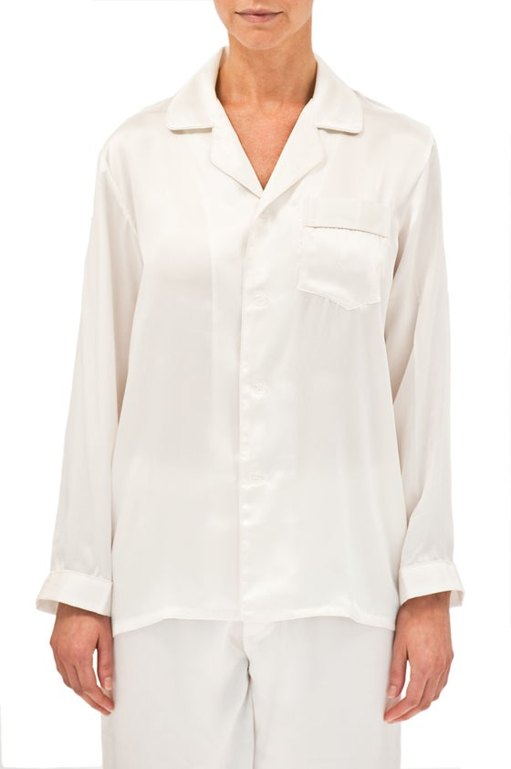 Image of Silk Pyjamas - White