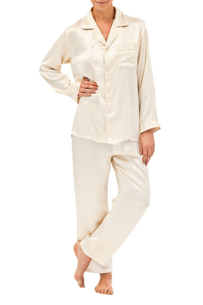 Image of Silk Pyjamas - Champagne