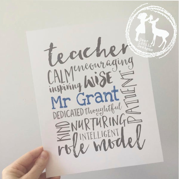 Image of Teacher Print - Word Mash