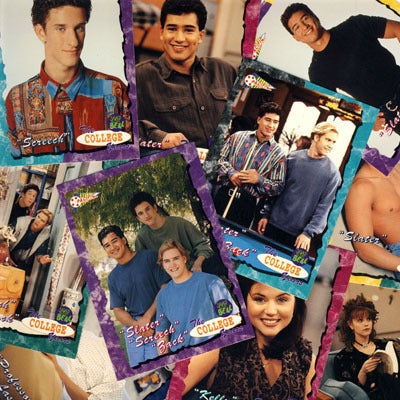 Image of SAVED BY THE BELL (The COLLEGE YEARS) TRADING CARDS 1994