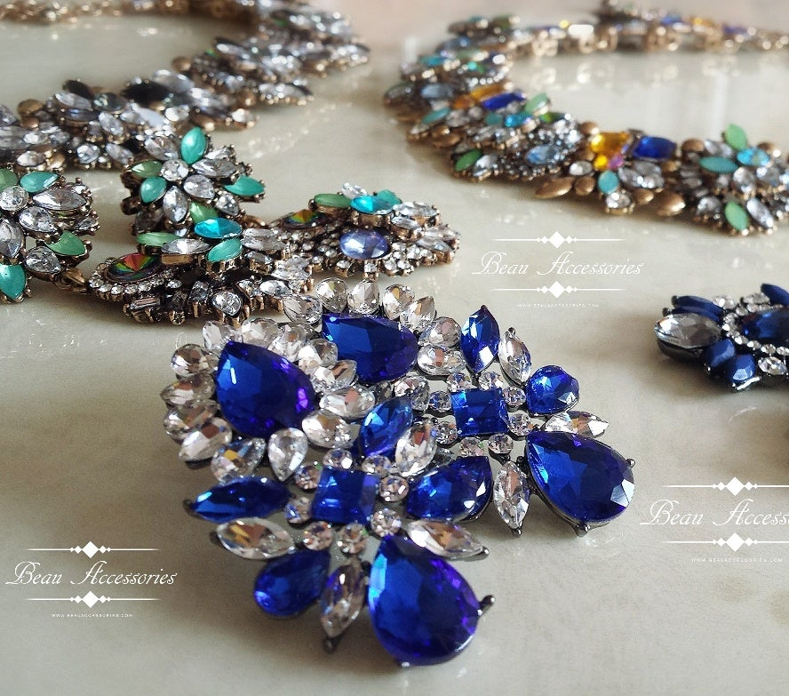 Image of Blue Crystal Pretty Earrings