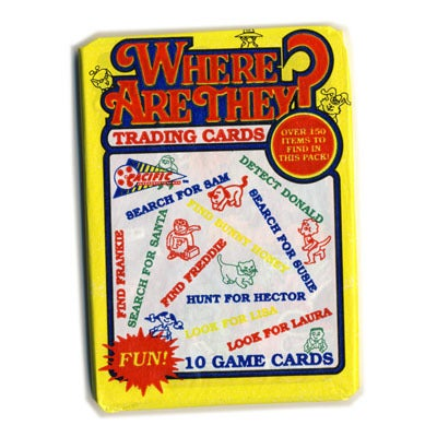 Image of WHERE ARE THEY? (LIKE WHERE'S WALLY) PUZZLE CARDS 1992