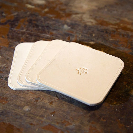 Image of Leather Drink Coaster Set