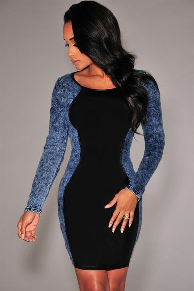 Image of Lael's Denim Dress w/ Long Sleeves