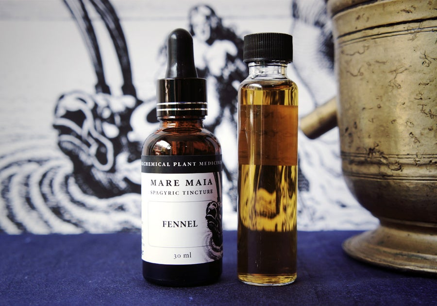 Image of FENNEL spagyric tincture - alchemically enhanced plant extraction