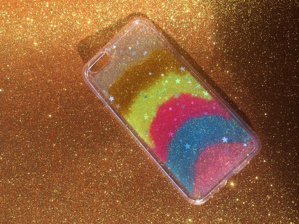 Image of iPhone 6 Plus 'Neapolitan Dream' Glitter Cover
