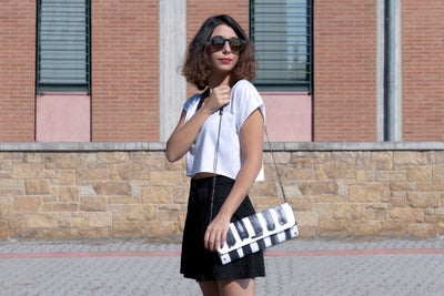 Image of Strip-ink / Clutch bag