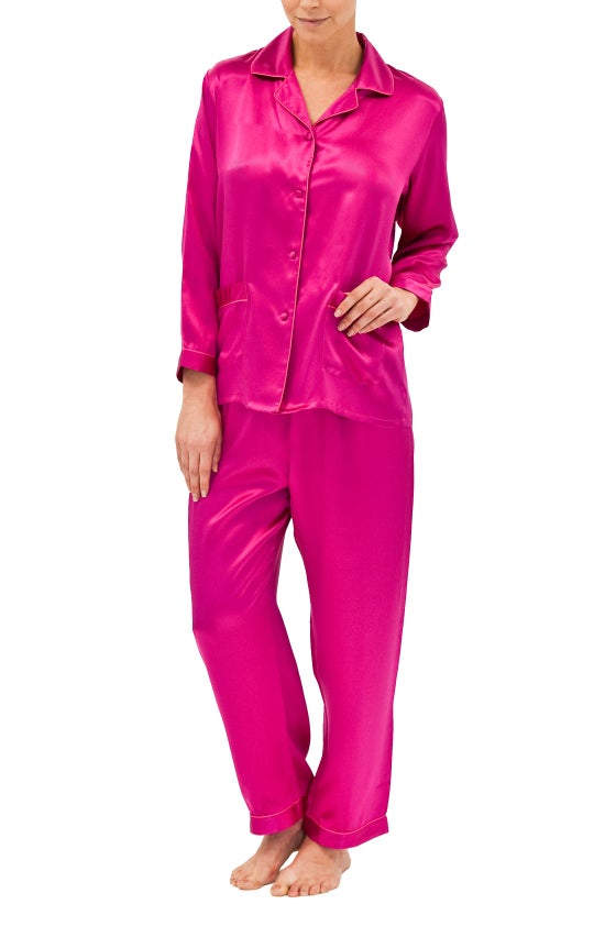 Image of Silk Pyjamas - Hot Pink