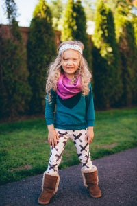 Image of THE PERFECT ORGANIC COTTON INFINITY SCARF - CHILD SIZE (PLUM)