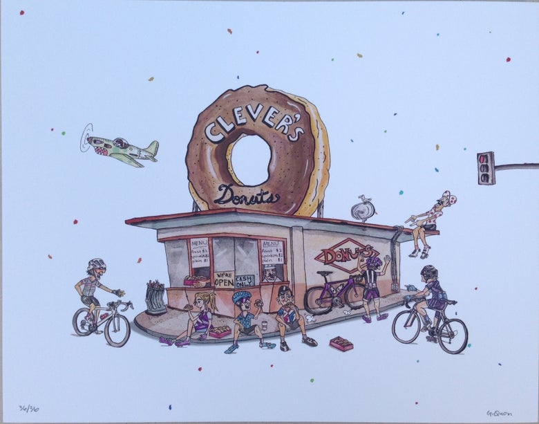 "Image of Clever's Donuts Limited 11"" x 14"" Print"