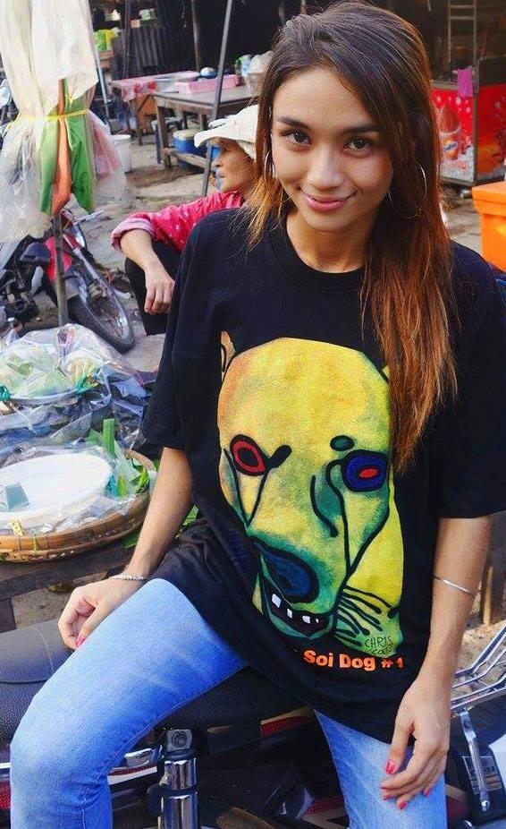 Image of Bangkok Soi Dog #1 Tshirt - Art by Chris Coles