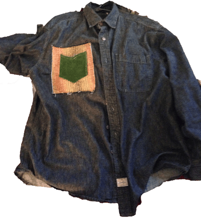 Image of Patch Pocket Denim Shirt