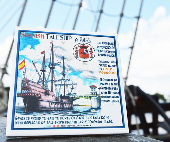 Image of El Galeon Commemorative Tile