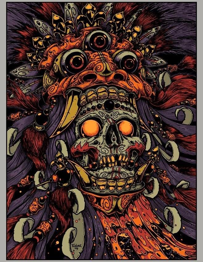 Image of Bali Skull • '15 Jeral Tidwell Art Print