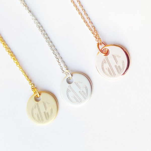 Image of Circle Monogram Necklace