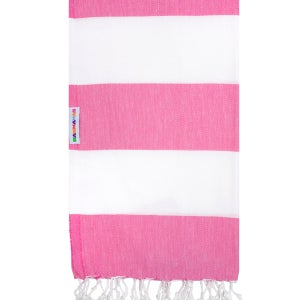 Image of Hammamas Turkish Towel (Watermelon/White)