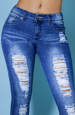 Image of Distressed & Stretched Jeans