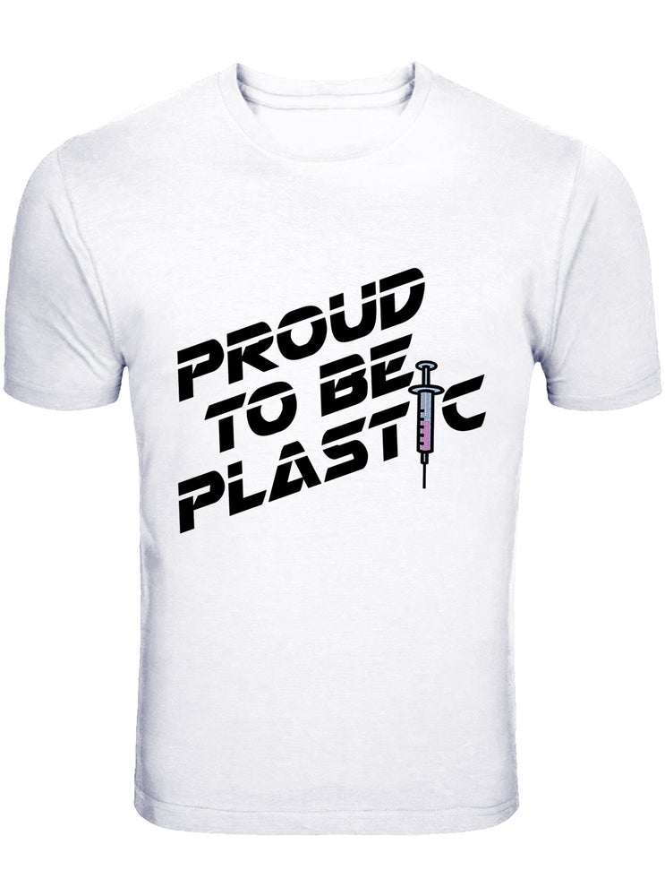 "Image of ""PROUND TO BE PLASTIC"" OFFICIAL  JUSTIN JEDLICA T-SHIRT"