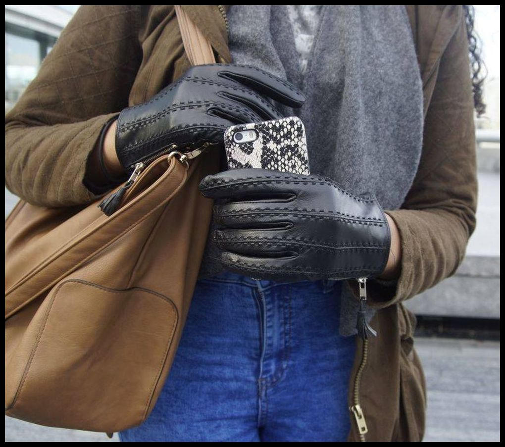 Image of The ACTIVE PALM ➐ ™  Women's Genuine Touchscreen Leather Gloves (Exclusive)