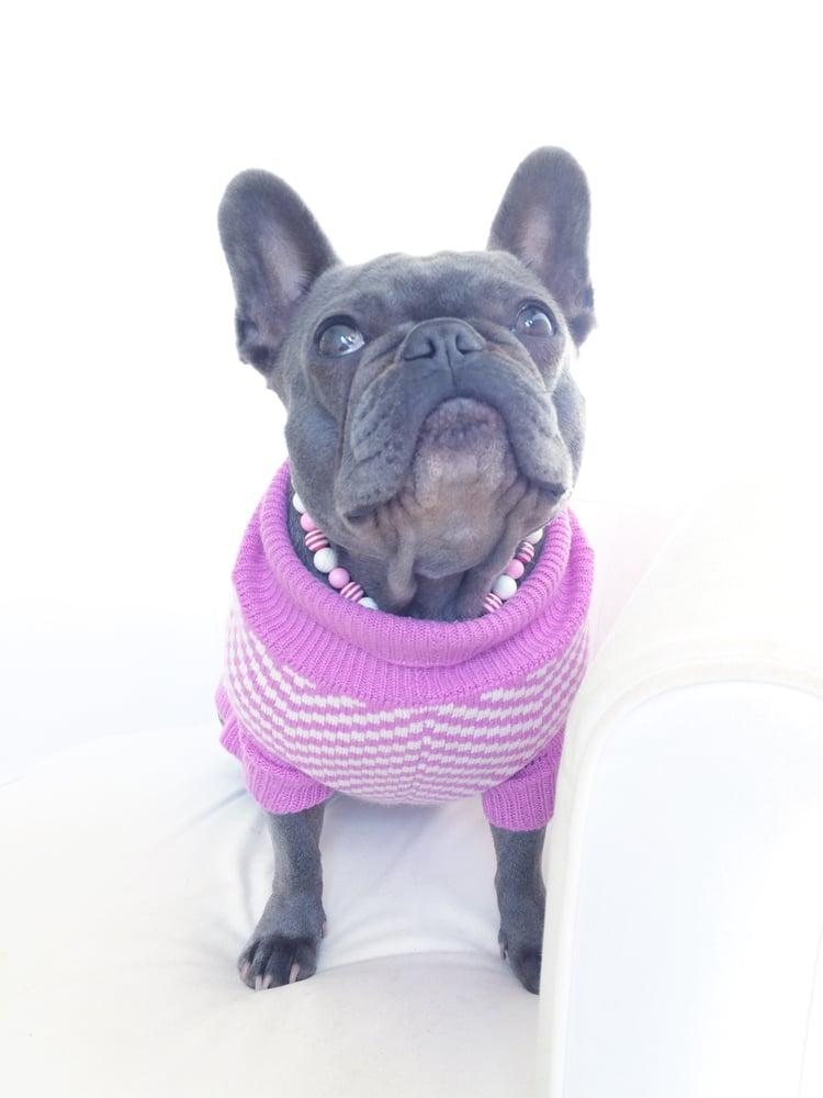 Image of Milkshake ~ Pale Pink, White & Pink Striped Necklace