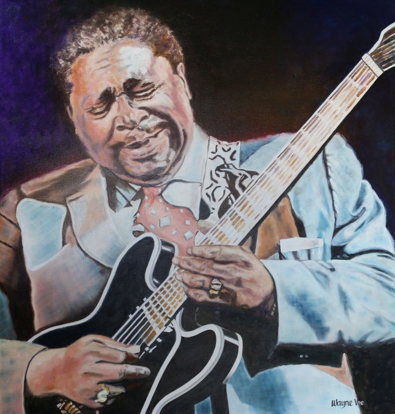 Image of B.B. King • Original Oil Painting