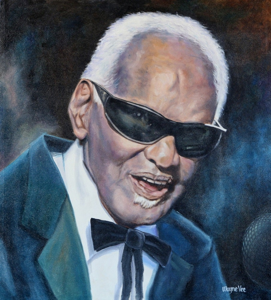 Image of Ray Charles • Original Oil Painting