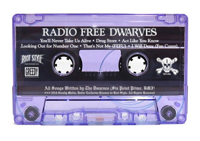 Image of The Dwarves - Radio Free Dwarves Cassette Tape Limited Edition