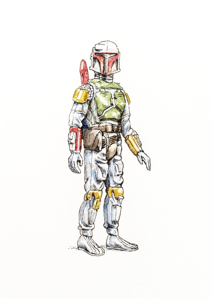 Image of Vintage Boba Fett | Original Drawing