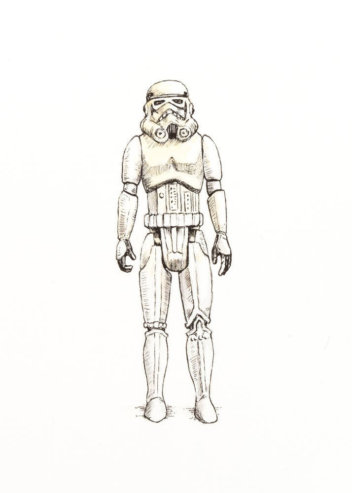 Image of Vintage Stormtrooper | Original Drawing