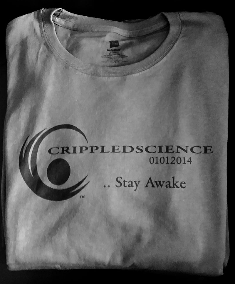 Image of Stay Awake T - Slate Grey w/ Blk Logo