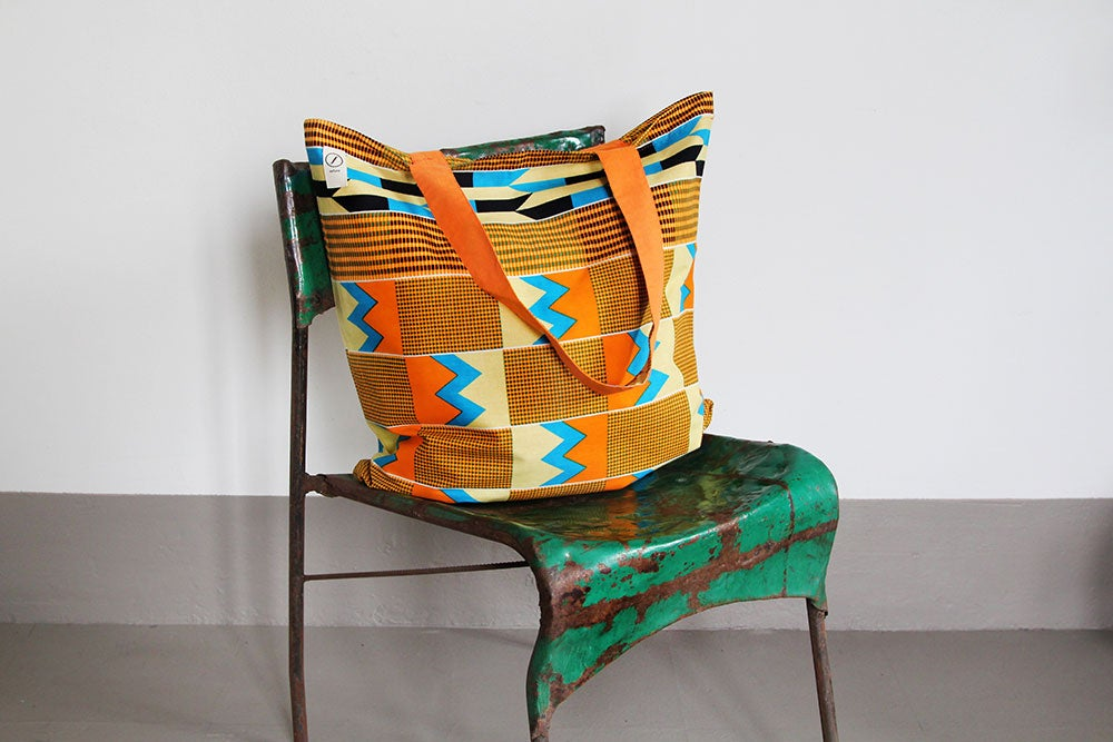 Image of Yellow Kente bag