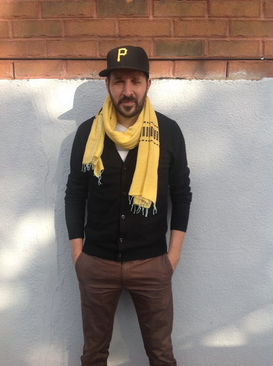 Image of Collection homme - Écharpe jaune #1 / For men - Yellow scarf #1