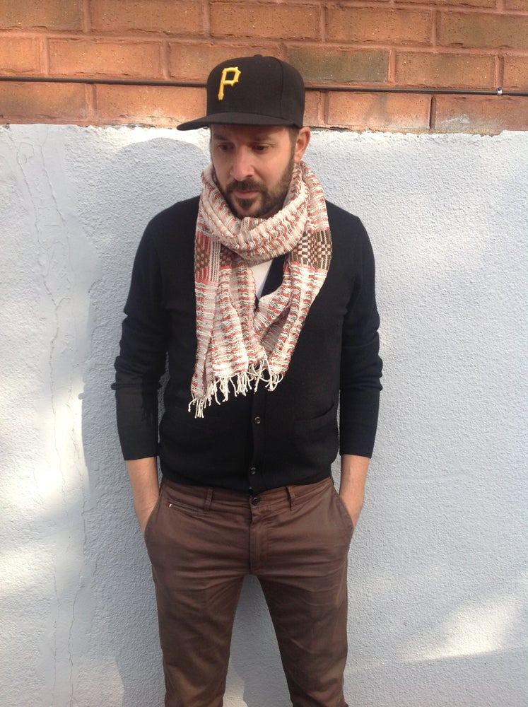 Image of Collection homme - Écharpe rouge / For men - red scarf