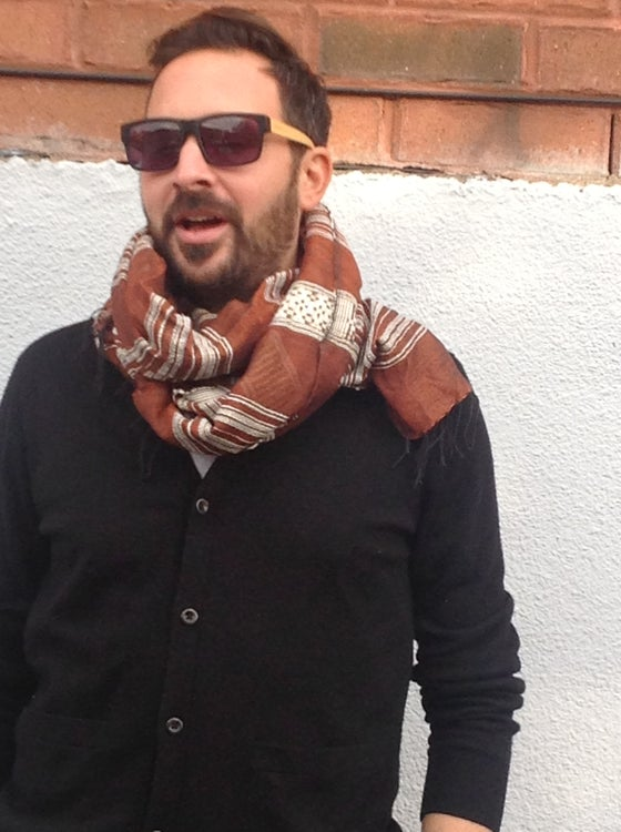 Image of Collection homme - Écharpe brune / For men - brown scarf
