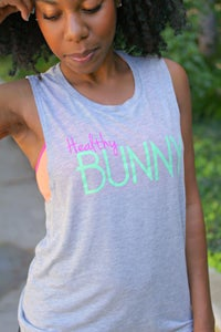 Image of Healthy Bunny Women's Flowy Muscle Tank