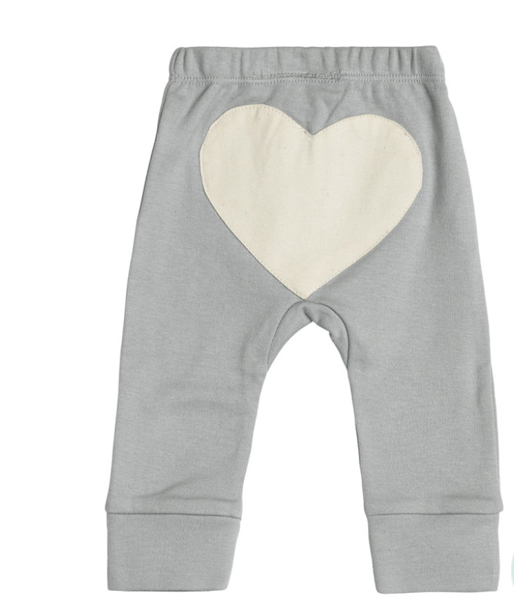 Image of Dove Grey Heart Pants by Sapling Child