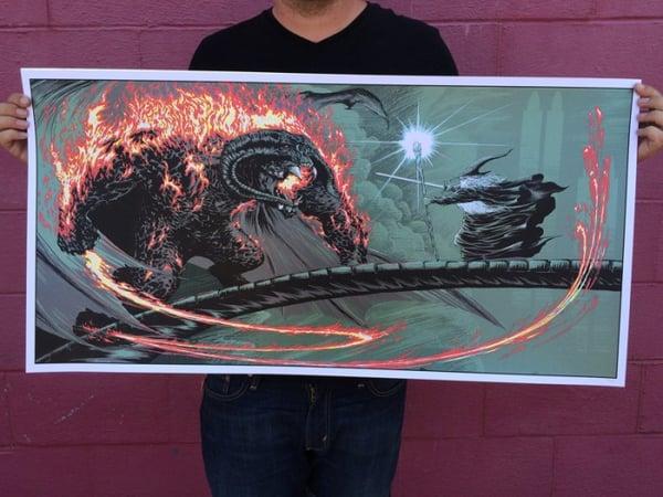 Image of Shadowflame vs glamdring metallic inks - ARTIST PROOF