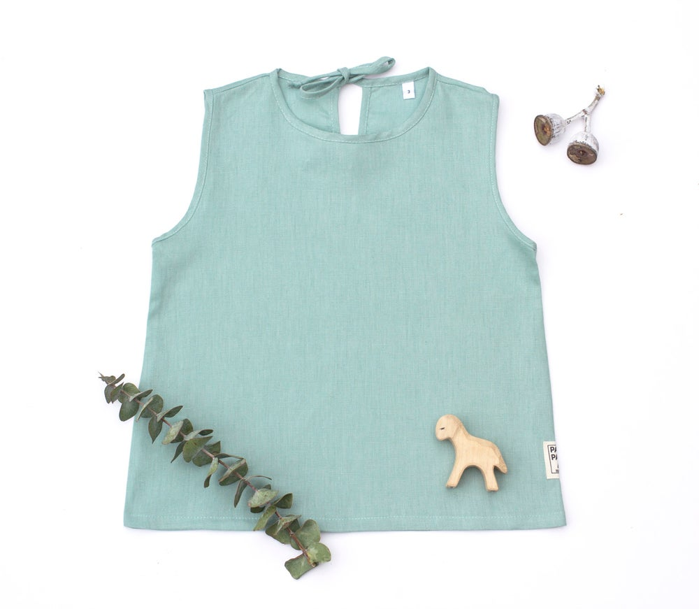 Image of Mint Linen Top