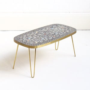 Image of small hairpin mosaic coffee table