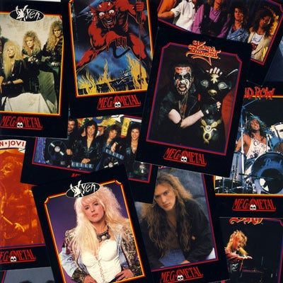 "Image of ""MEGA METAL"" HEAVY METAL BANDS TRADING CARDS"