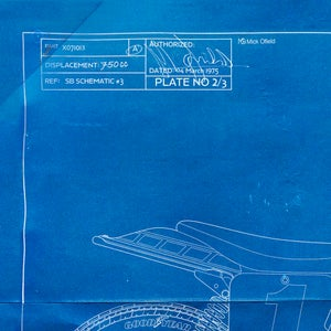 Image of Yamaha TZ700 Giclee Blueprint
