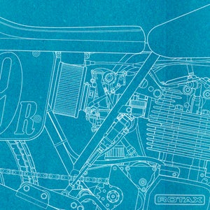 Image of Wood Rotax Giclee Blueprint