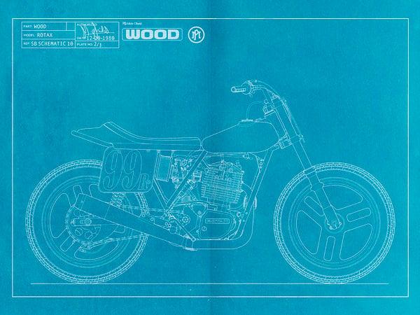 Image of Wood Rotax Giclee Blueprint