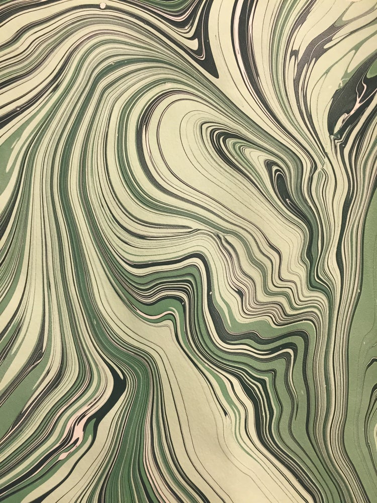 Image of NEW - 'Malachite' Marbled paper design