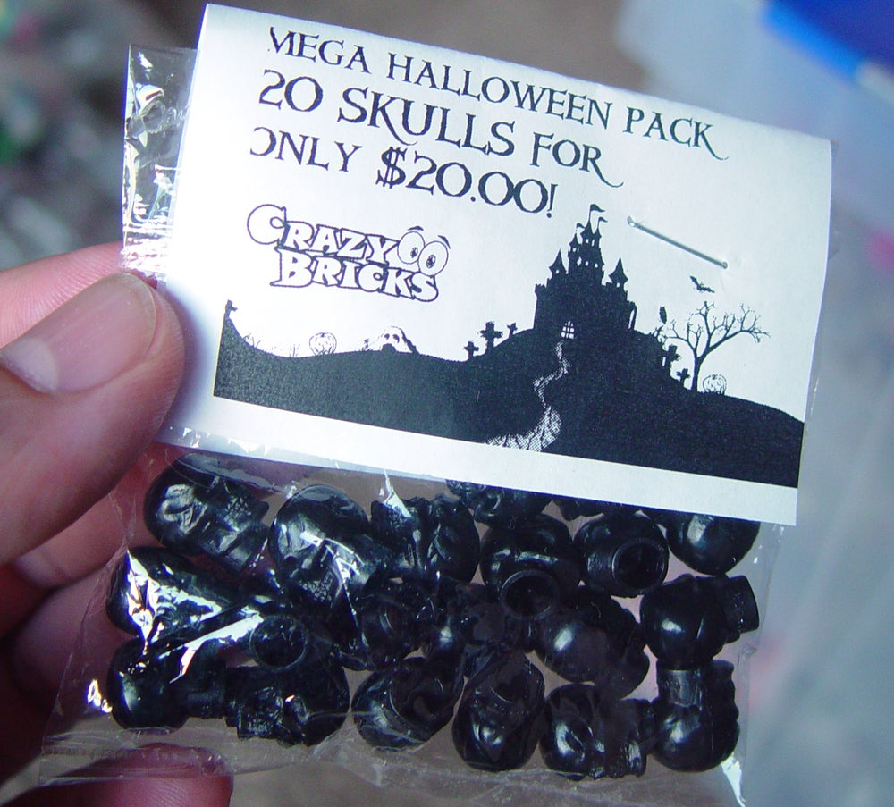 Image of 20 pack of BLACK skulls for just $10 = MEGASALE!