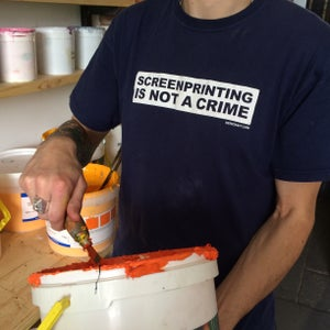 Image of Screenprinting is not a crime - T-Shirt