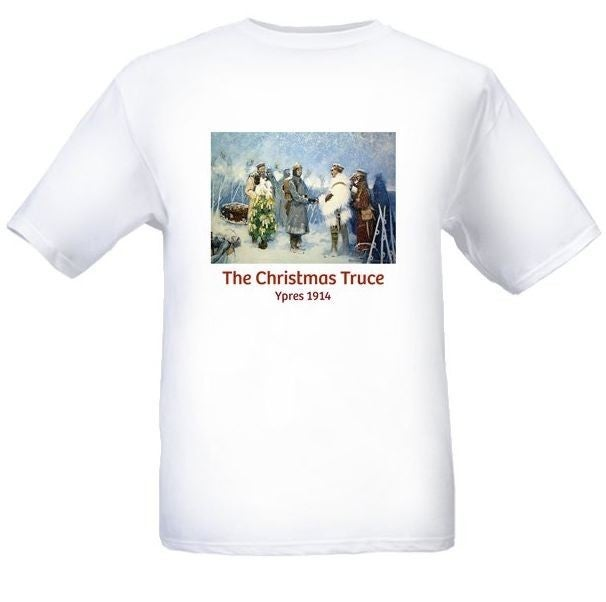 Image of Christmas Truce 1914 Ypres T shirt £16.99 ( + £5 P'n'P)
