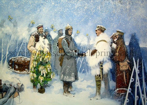 Image of Christmas Truce A5 card pack £9