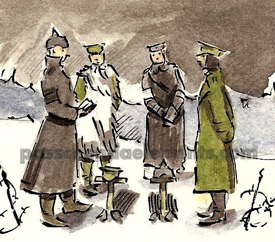 Image of THE CHRISTMAS TRUCE ~ JOINT BURIAL SERVICE £22.50
