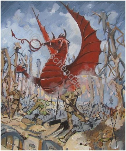 Image of 38th Welsh Division ~ Mametz Wood The Somme 1916 ( Colour )